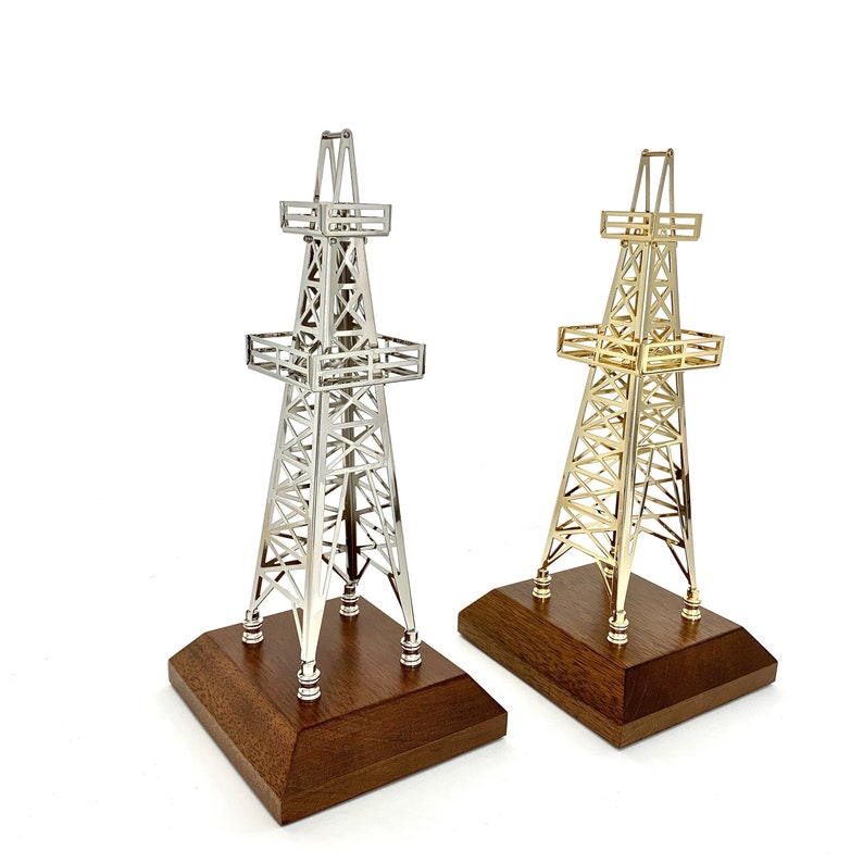 Merveilleux Oilfield Gift Derrick Drill Rig Model Award Trophy Office Decoration Oil  And Gas Roughneck Gift Gold