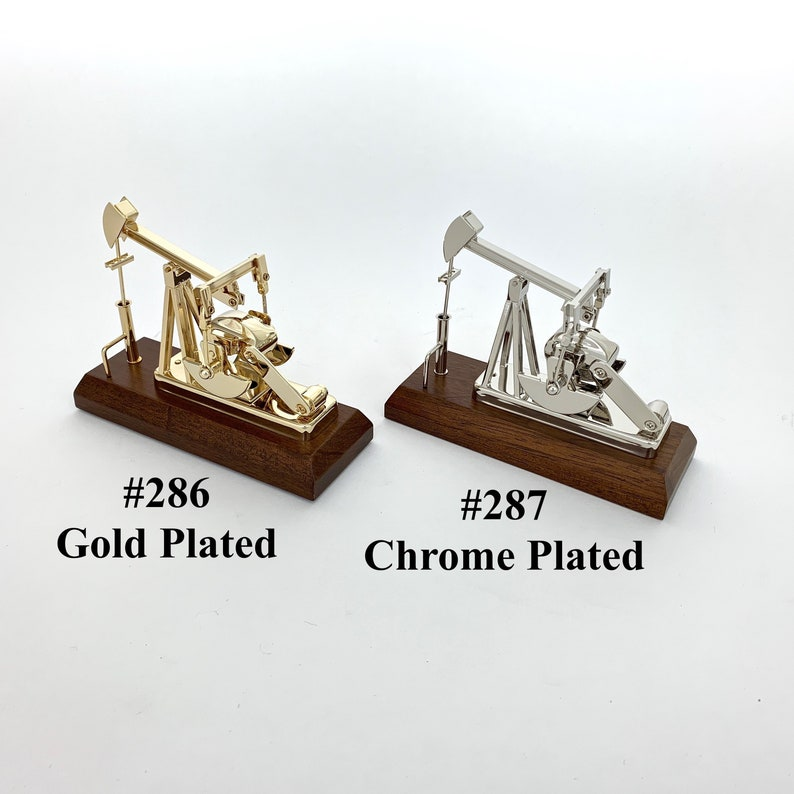 Merveilleux Oilfield Gifts Oil Well Pump Jack Model Gold Or Chrome Office Decoration  Trophy Award Pumping Unit Plaque Oil And Gas Industry Roughneck
