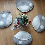 Pebble shaped Floor Cushions (set of 4)