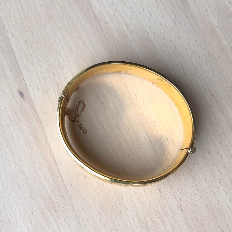 Vintage 15 9 Carat Gold Metal Core Bangle