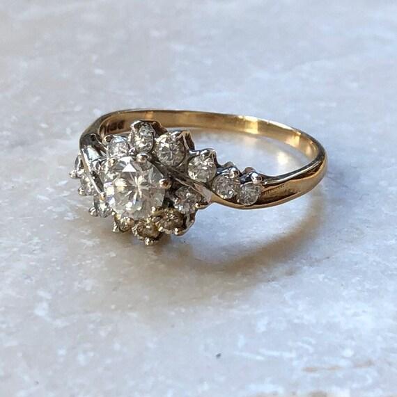Vintage 9 Carat Gold Paste Ring
