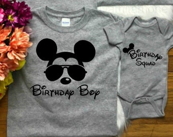 Birthday Boy Mickey Minnie Disney Vacation Group Shirts Newborn 5x Fitted Or Unisex Style Can Come Custom With Name On The Back