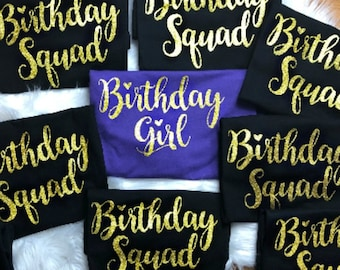 Custom Age Birthday Queen and Custom name Birthday Squad | Etsy