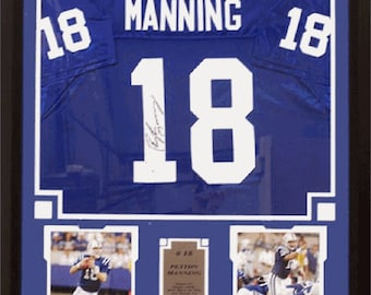 971d58b2b92 Peyton Manning Indianapolis Colts Signed Jersey Frame