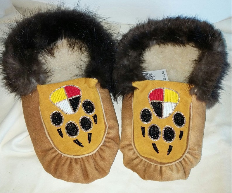 c45df494e0e4b Cured moose hide moccasins