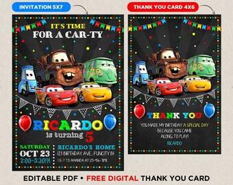 cars invitation etsy