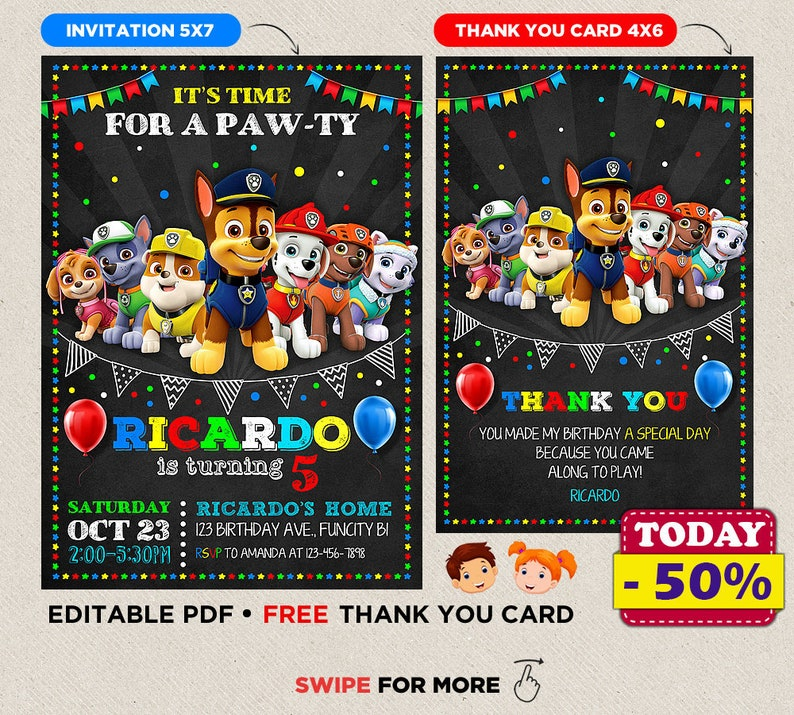 photograph relating to Free Printable Paw Patrol Invitations referred to as Paw Patrol Birthday Invitation, Paw Patrol Birthday Celebration, Paw Patrol Invite Printable Document, Paw Patrol Bash, Paw Patrol Invitation Released