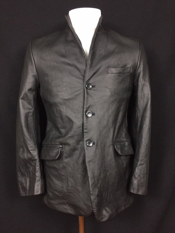 Yohji Yamamoto Blazer Leather Jacket