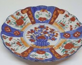 Antique late 19th C Clobbered Imari style Chinese plate