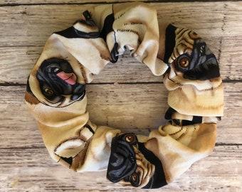 pet print scrunchie Puppy love