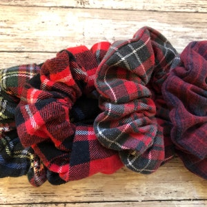 Plaid Flannel Scrunchies Collection