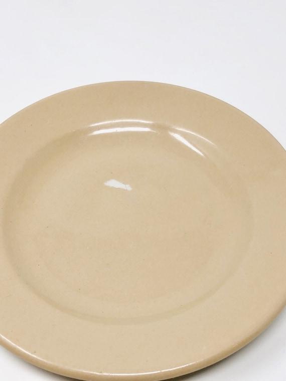 Tepco Rare Plate Vintage Beige with Green Wave Design Retro Home Decor