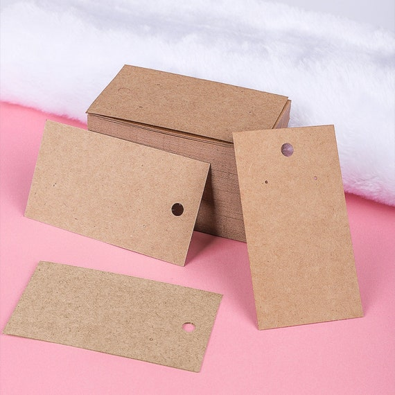 200 Pieces Earring Backs with 200 Pieces Self-Seal Bags for Ear Studs Jewelry Display 200 Pieces Earring Cards Holder Kraft Necklace Display Cards