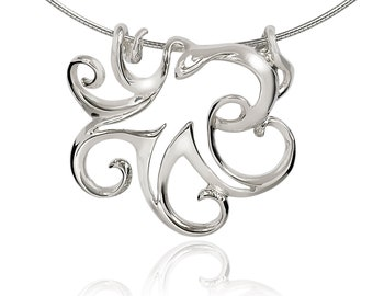 Octopus Necklaces for Women Sterling Silver- Octopus Jewelry for Women, Octopus Ring Pendant, Sea Life Jewelry for Women, Octopus Gifts