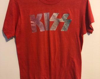 e0931615 Vintage kiss t shirt | Etsy