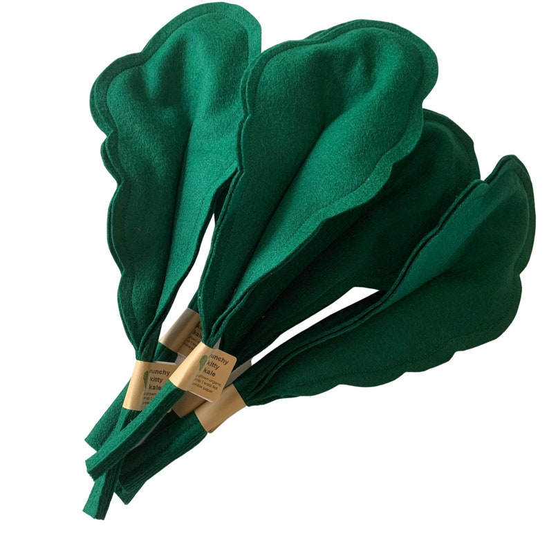 crunchy kitty kale  kale for cats  crunchy cat toy  wool image 0