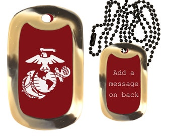Luxury Dog Tag Necklace Unique Gifts Store Military Veterans Cousin v2