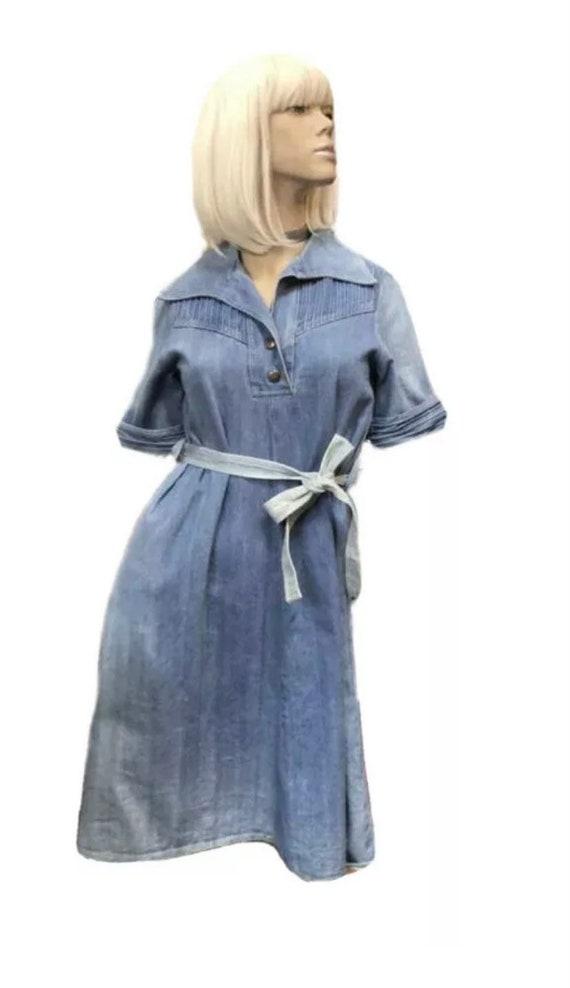 1970's 'Popcorn' Denim Dress
