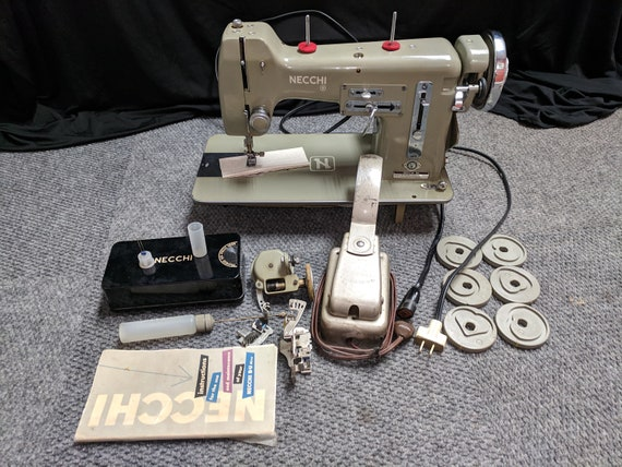 Used Necchi BUMira Sewing Machine Tons Of Accessories Etsy Amazing Necchi Bf Mira Sewing Machine