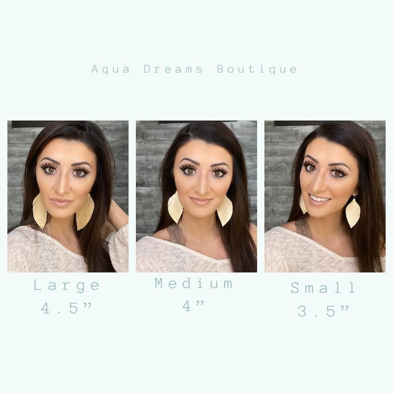 Boho Inspired Shimmer Earrings USA Made Smooth Gold Feather Earrings Stylish Wedding Earrings Modern Jewelry Women\u2019s Style