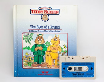 The Sign of a Friend Teddy Ruxpin Book and Tape