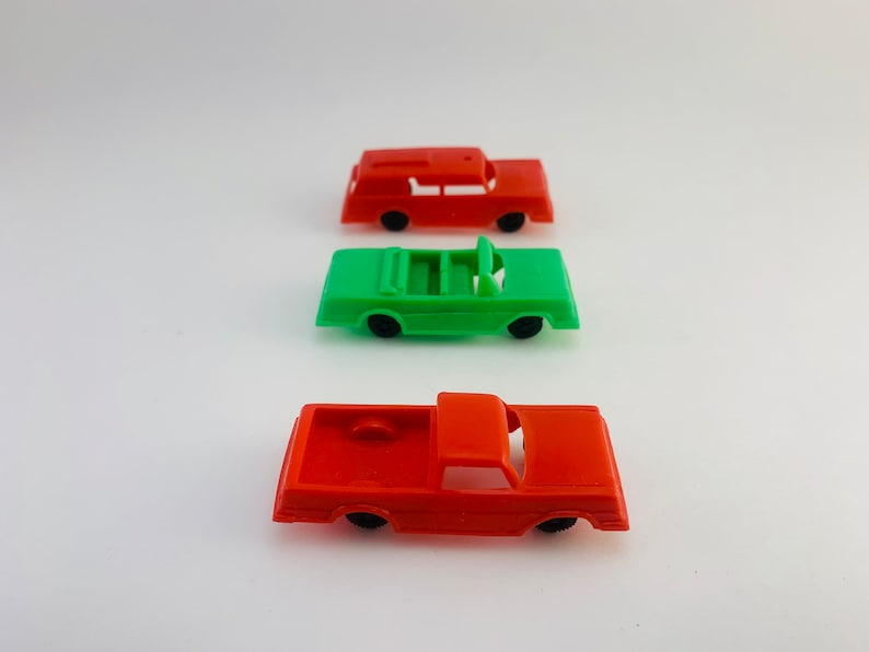 1970s Cereal Box Toys Plastic Cars image 0