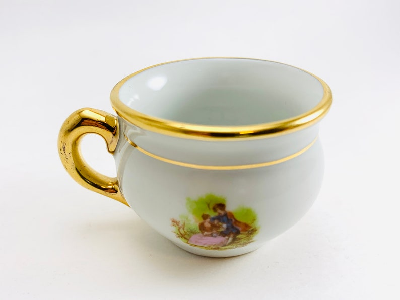 Vintage Limoges Miniature Chamber Pot With Eye