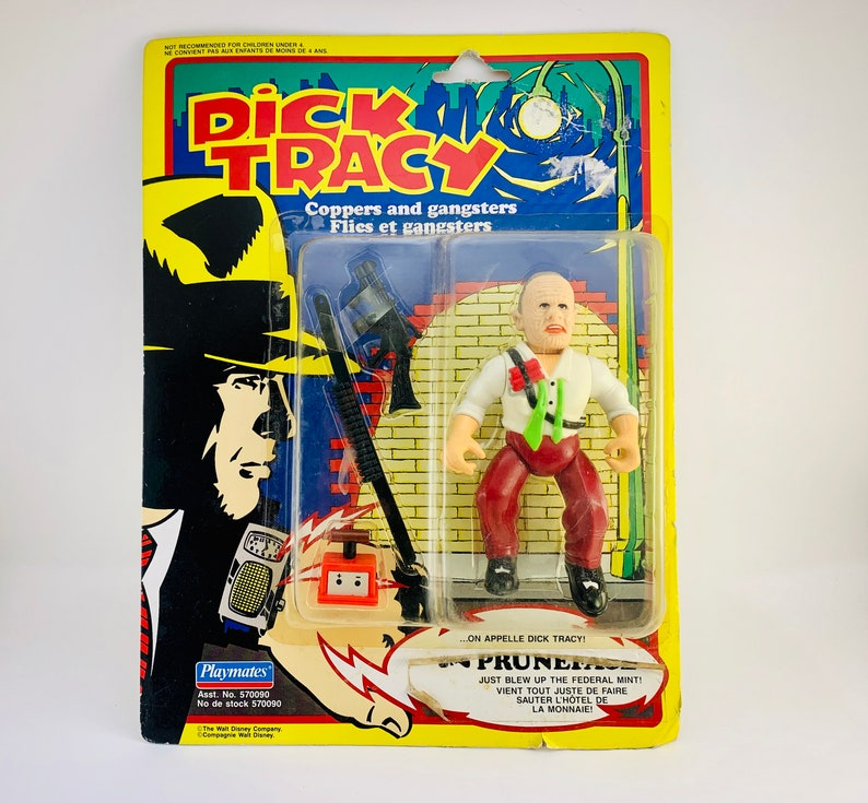 1990 NOS Dick Tracy Villain Pruneface  Coppers and Gangsters image 0