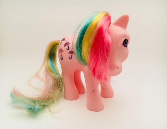 G1 1983 My Little Pony Parasol Pink Rainbow Glitter Umbrellas