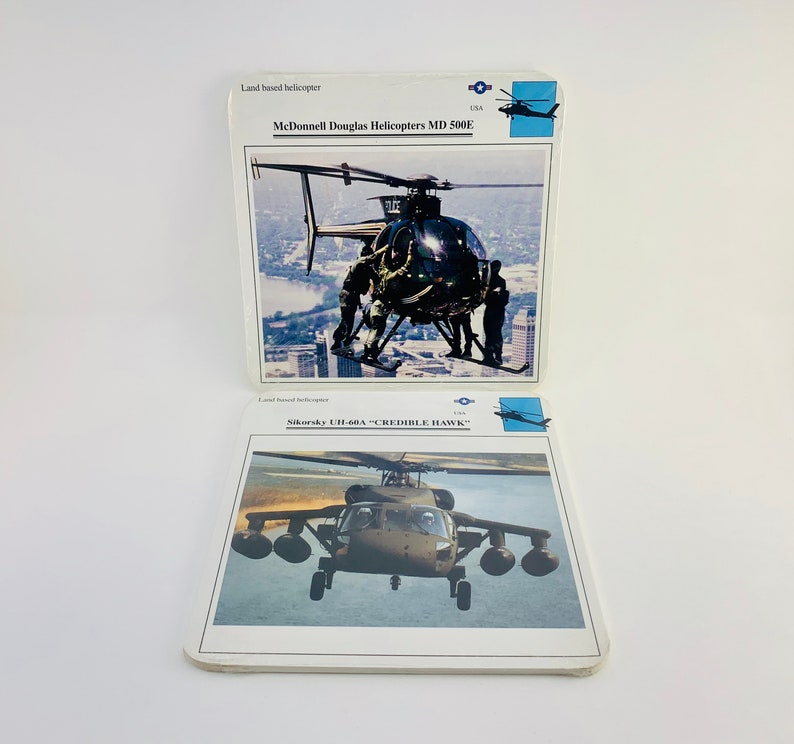 1980-90s Edito-Service Military Aircraft Collector Cards image 0