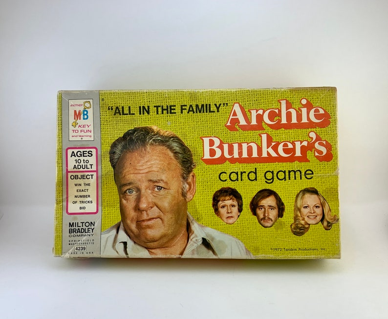 1972 Archie Bunkers Card Game  Complete image 0