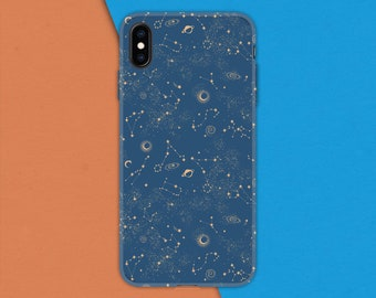 Half-wrapped Case Phone Bags & Cases Lovely Cartoon Moon Painting Phone Case For Iphone 5 5s Se 6 6s 7 8 Plus X Case Beautiful Stars Sky Back Cover Hard Coque
