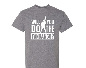 064b7c88 Will You Do The Fandango? With A Freddie Silhouette On A Queen Adult Tee  Shirt.