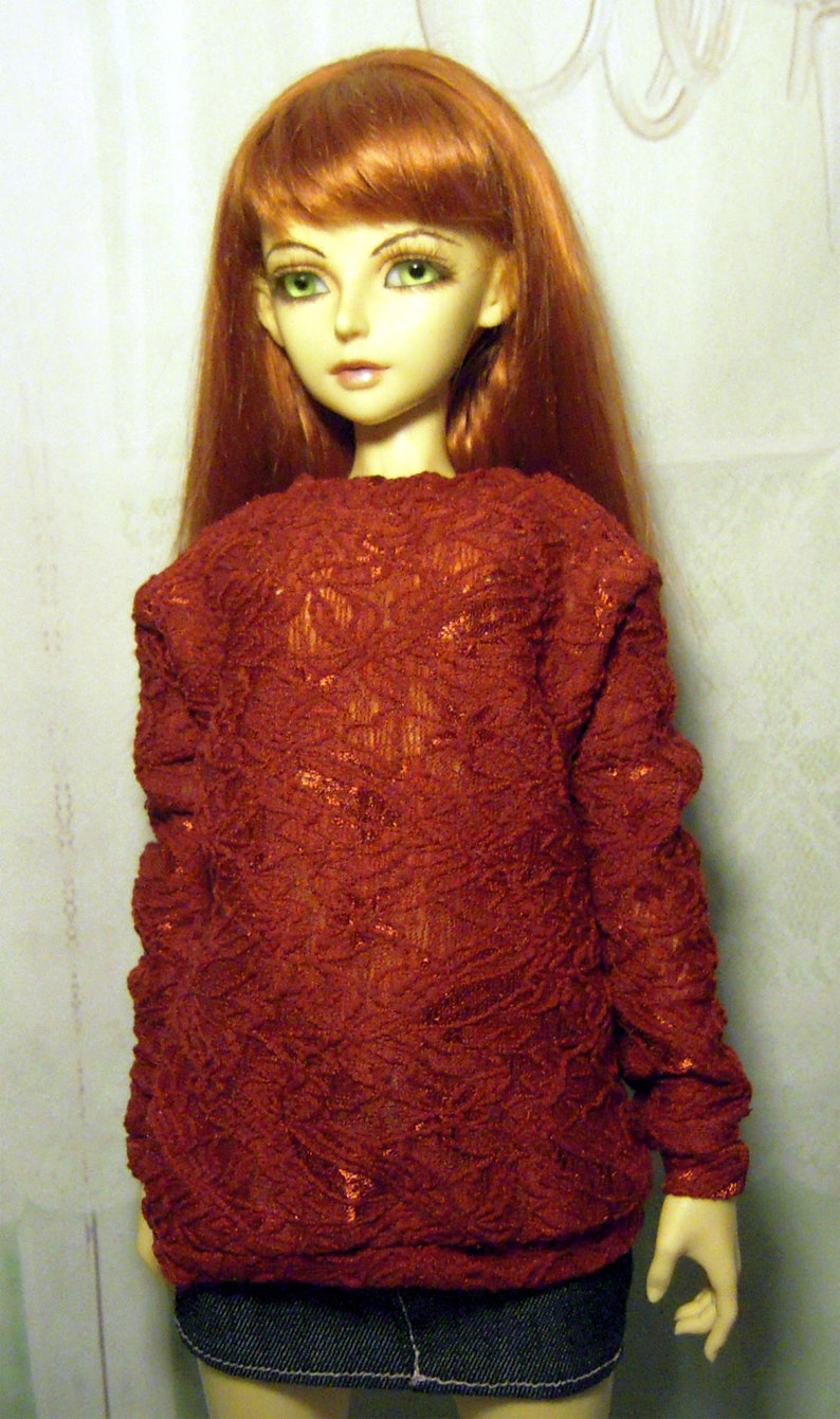 1//3 BJD SD13 girl doll clothes outfit red leather jacket dollfie luts