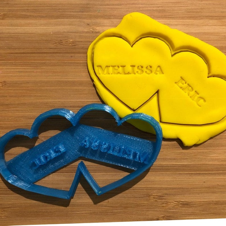 Custom Personalized Cookie /& Fondant Cutter BUNDLE Heart Cookie Cutter I Love You Cookie Cutter Sweetheart Cookie Cutter Valentine/'s Day