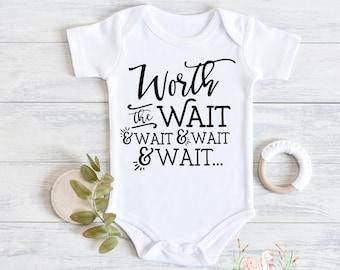 Worth The Wait Rainbow ONESIE\u00ae Newborn Girl Coming Home Outfit Worth The Wait Worth The Wait ONESIE\u00ae Worth The Wait Newborn Outfit Girl