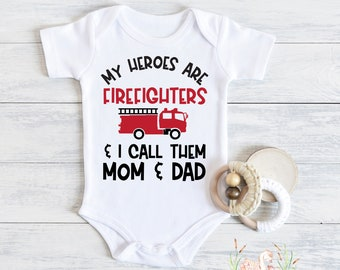 Newborn romper Cute baby clothes Baby shower gift Expecting mom gift FIREFIGHTER PREEMIE BOY clothes baby girl clothes new parent gift