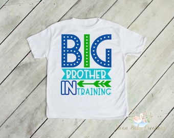 5a6c48add6 Short or long sleeve | Big brother in training t-shirt