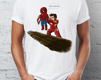 9b3cb8f4 Men's T Shirt Spiderman Homecoming Ironman Stark Pride Rock Marvel  Superhero Funny Tee
