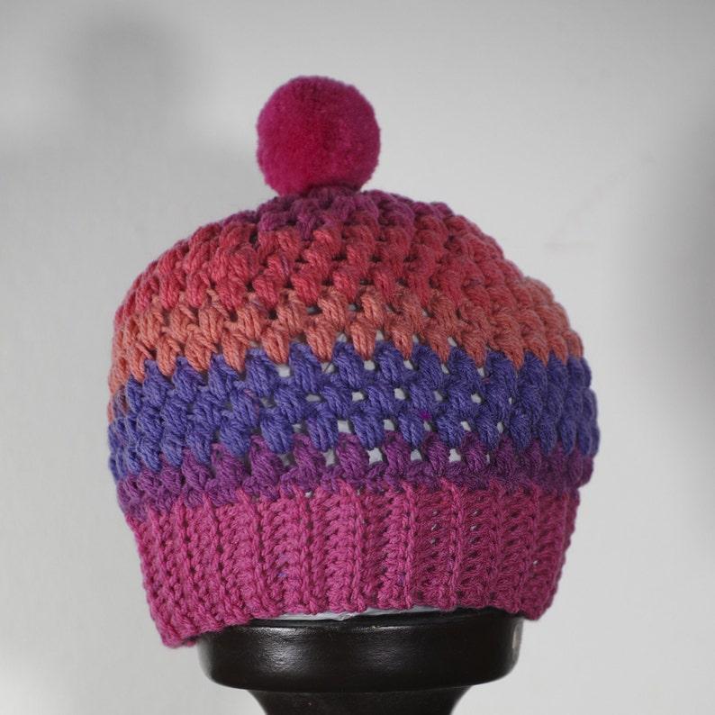 Small girls beanie Crochet hat Crochet Beanie Small knit hat Toddler beanie Small girls knit hat. Small crochet hat Wool beanie