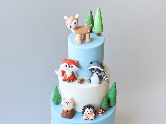 Woodland Animals Edible Fondant Cake Topper