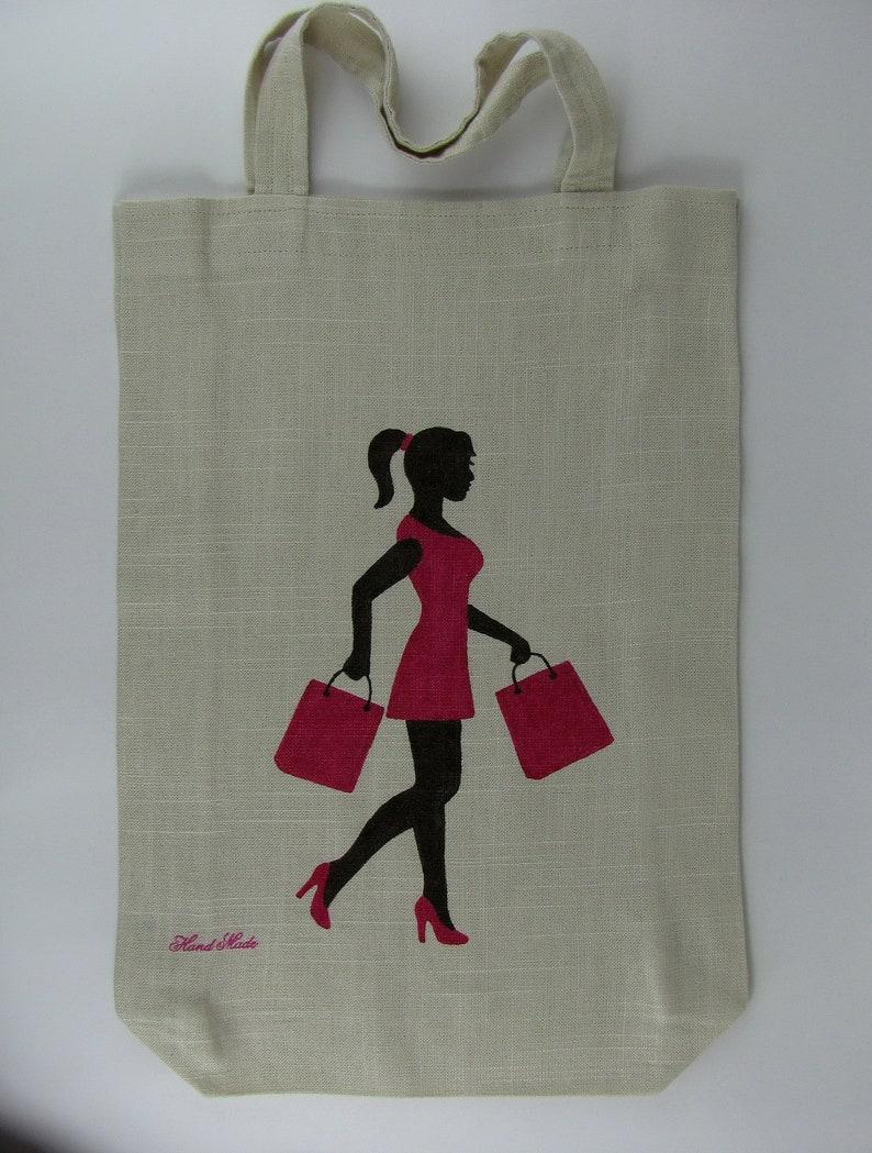 Market Bag with a print body positive art