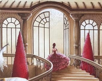 Cinderella (the arrival at the ball) original board