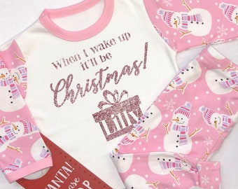 Personalised Sleep Tight Santa is on his way Christmas Pyjamas Toddler  Pyjamas Xmas 2018 Boys Pjs 7e967e60e