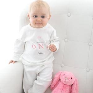 Personalised When I Wake Up I/'ll Be One Birthday Luxury Shorts Pyjamas Birthday Gifts Girls Custom Prince Pyjamas First Birthday Pyjamas