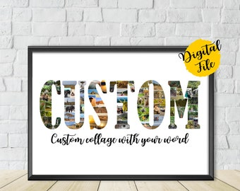 custom word collage etsy