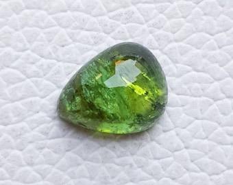 E7207 Natural green Tourmaline gemstone,Tourmaline rectangle shaped loose gemstone,good quality,5x5-7x11 mm,20 pieces,32 Ct.Approx
