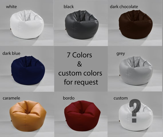 Strange Bean Bags Mela Italian Eco Leather Beanbag Cover Only L Size 100Cm Camellatalisay Diy Chair Ideas Camellatalisaycom