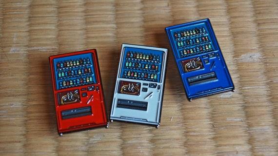 Japanese Vending Machine Soft Enamel Pin - White/Red/Blue