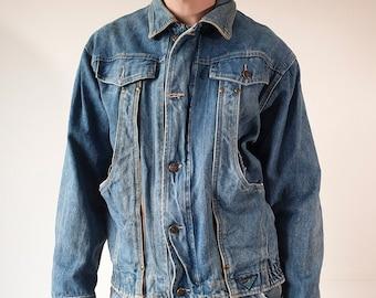 0a59d6556 Vintage 90s Blue Denim Jacket